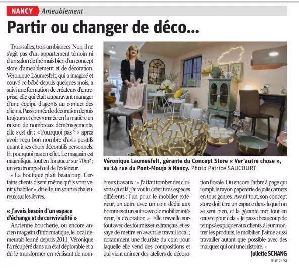 Ver' Autre Chose - concept store Nancy- Dans les médias