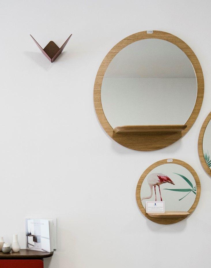 miroirs en bois de 3 tailles différentes