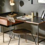 Bureau en métal et bois