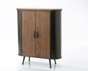 armoire fermée en métal et bois