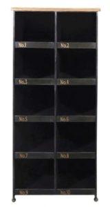armoire en métal avec casiers