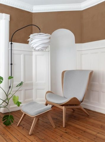 fauteuil scandinave avec repose pieds