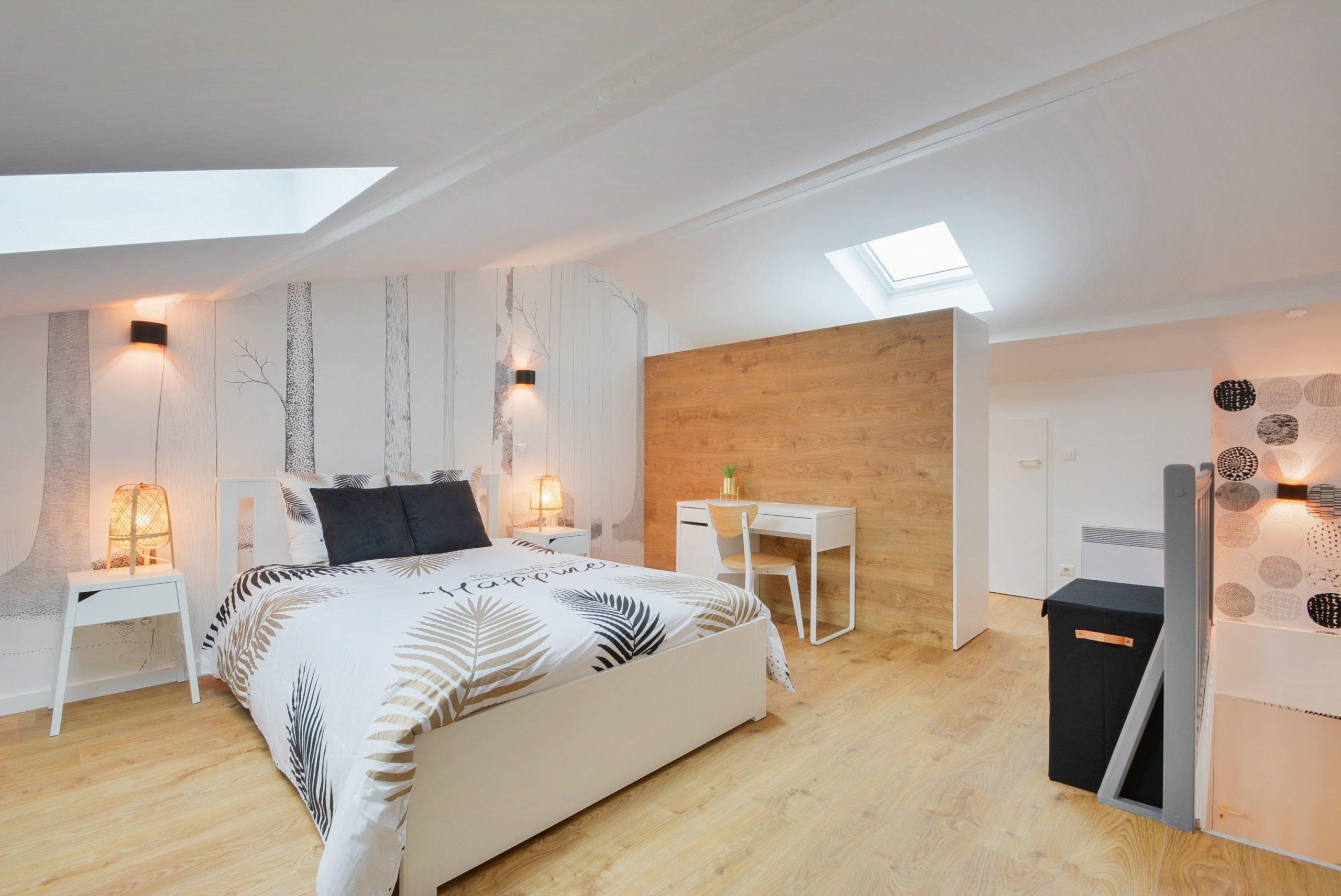 Vue chambre d'un appartement